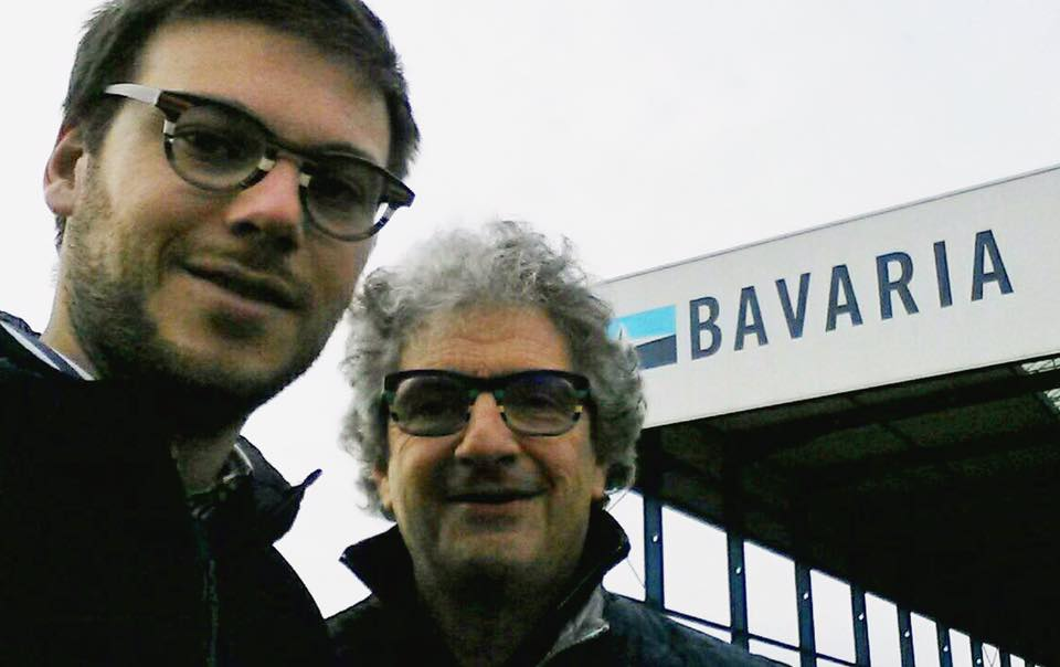 Alessandro Ganz and Maurizio Cossutti in front of Bavaria Shipyard